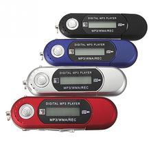 Di piccola Dimensione di Alta Qualità di Nuovo MP3 Lettori USB 2.0 Flash Drive di Memoria Bastone LCD Mini Giocatore di Musica di Sport MP3 con FM Radio Auto Regalo