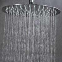 10/12/16 Inch Round Shower Head Shower Rainfall chuveiro Ultra thin Top Water Saving Showerhead Chrome SUS304 Bathroom Overheads
