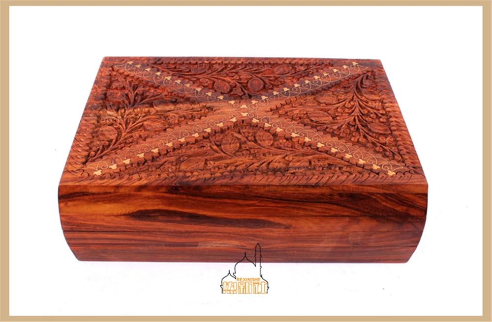 Pakistan jewelry box jewelry box classic Antique Walnut Wood high