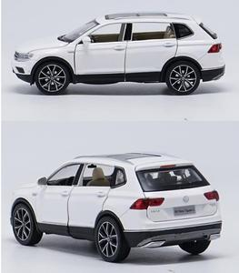 Image 2 - 1:32 alloy pull back car toys, high imitation Tiguan L,open door music &flash& toy vehicles, wholesale