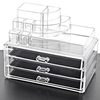 Manufacturer Acrylic Desktop Jewelry Drawer Organizer Cosmetic Storage Box Lipstic Holder Nail Polish Display With High