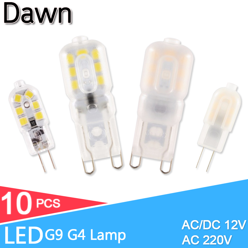 10pcs G4 G9 LED Lamp 3W 5W Mini LED Bulb AC 220V DC 12V SMD2835 Spotlight Chandelier High Quality Lighting Replace Halogen Lamps image