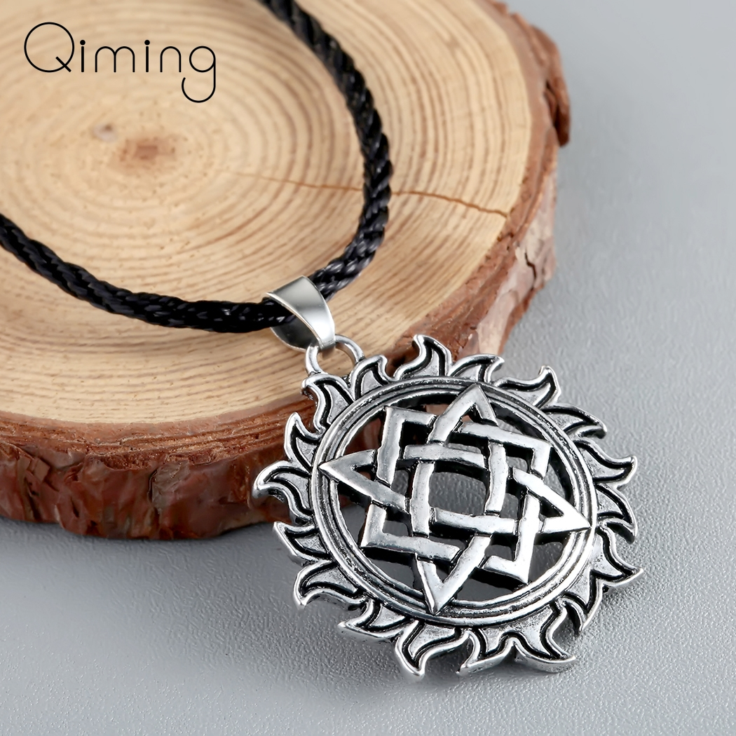 Svarog Slavic Talisman Pagan Necklace Women Star Charms Old Ancient Jewerly Men Viking Necklaces Amulet Gifts