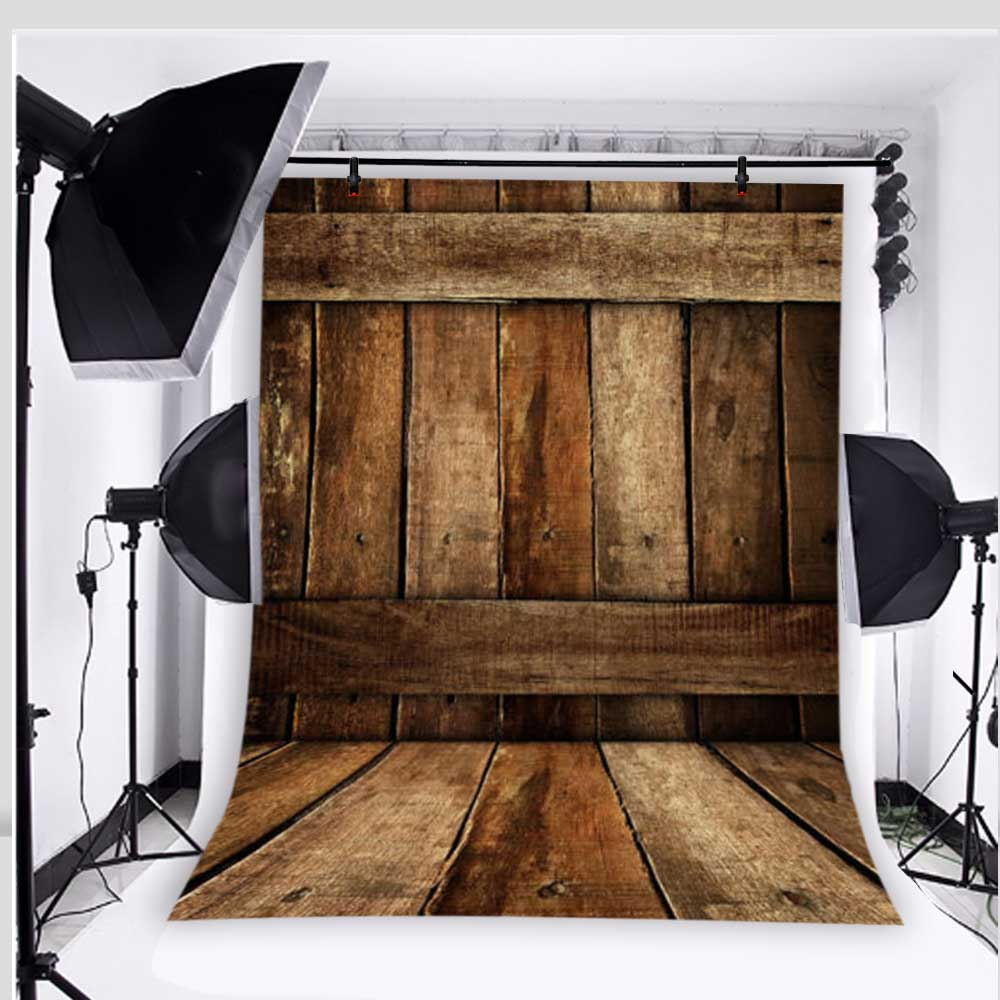 Retro Photography Background Wooden Floor Photo Studio Backdrops for Baby Vinyl 5x7ft or 3x5ft  JieQX508