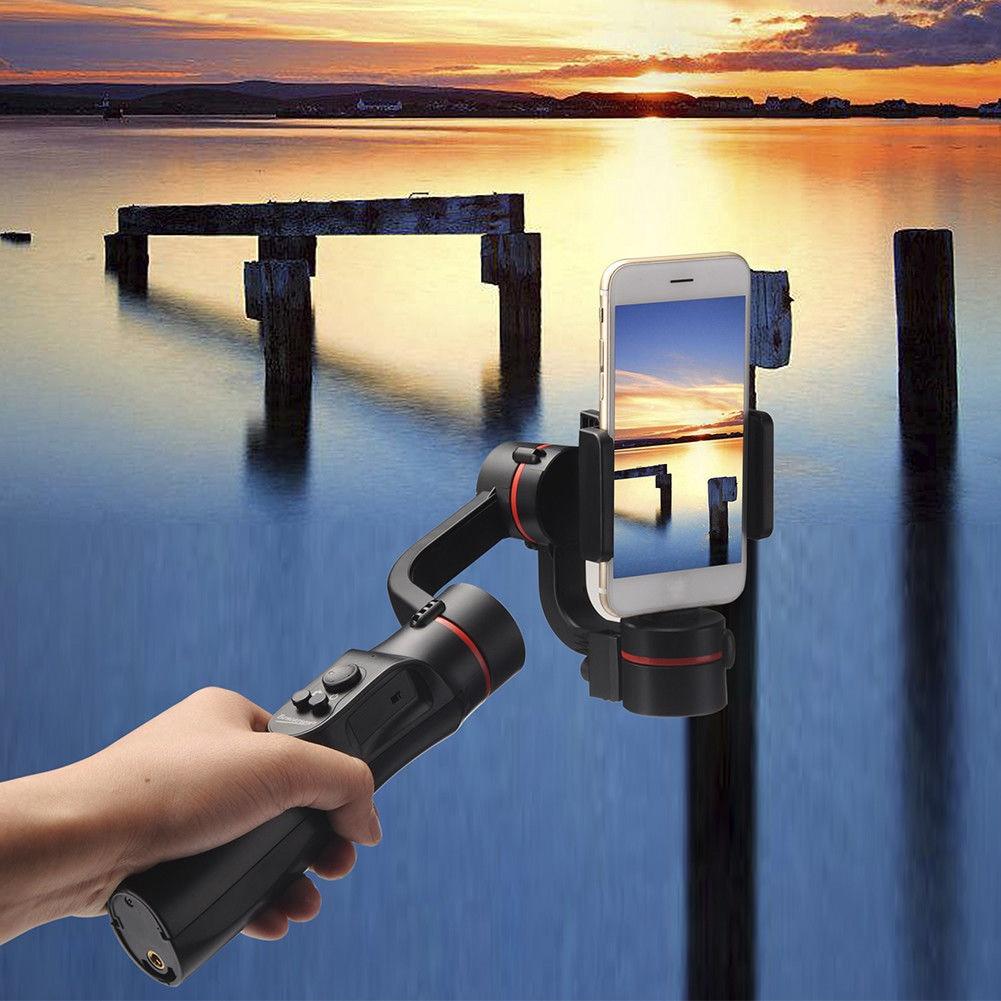 Stabilisateur de cardan de téléphone portable Bluetooth 360 degrés panoramique pour la photographie EM666 *