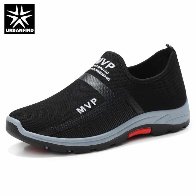 URBANFIND/весенние кроссовки; мужская повседневная обувь из сетчатого материала; мужские лоферы; черные модные кроссовки; мужские кроссовки; Sapato Masculino