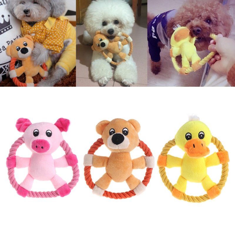 Pet Toy Cat Dog Squeaker Puppy Plush Random Animal Shape Disc Funny Sound Gifts