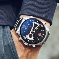 KADEMAN Fashion Sport Watch Men Quartz Digital Mens Watches Top Brand Luxury Waterproof Army Military 2019 Full Steel Wristwatch