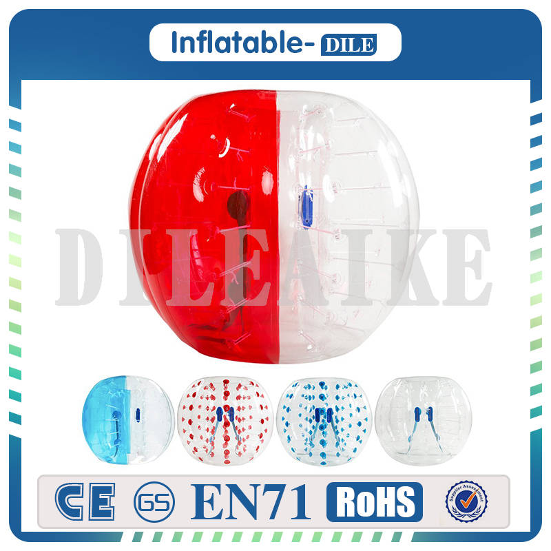 Free Shipping Inflatable Bumper Ball,Bubble Soccer Ball, Dia 3.3 (1.0m) Human Hamster Ball For Kids