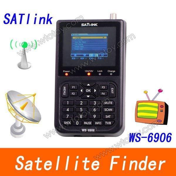 "3.5"" DVB-S FTA Signal meter satellite meter finder WS 6906 satellite finder meter WS6906 High Quality"
