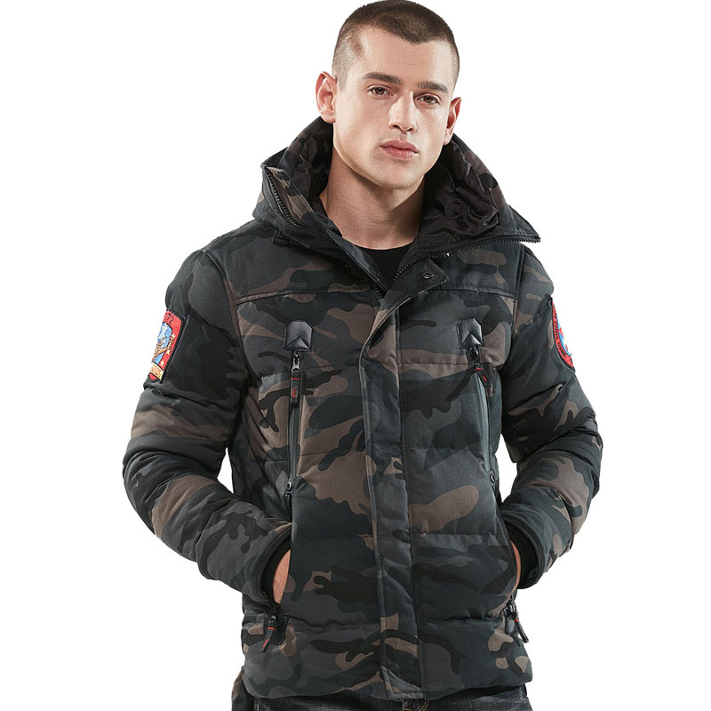 Image 3 - Parka Men Winter Jackets Cotton Chaquetas Hombre Camo Overcoat Mens Casual Camouflage Mens Jackets and Coats Wholesale-in Parkas from Men's Clothing