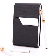 High Quality PU Smoking Cigarette Case for 20pcs Smoke. Magnetic Adsorption Switch Women's Cigarette Holder Business Card Holder стоимость