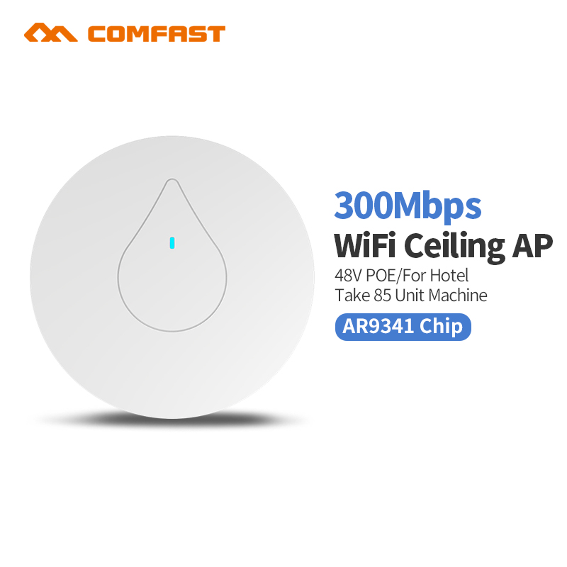 все цены на 2pcs 300Mbps Wireless Access Point Ceiling AP WIFI Router Repeater 2*2MIMO WI FI Extender Signal Bosster 48V POE Indoor AP онлайн