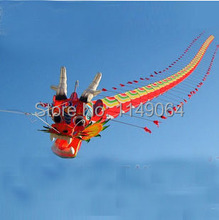 free shipping high quality Chinese traditional dragon kite 7m with handle line weifang kite big outdoor tartan hcxkite factory