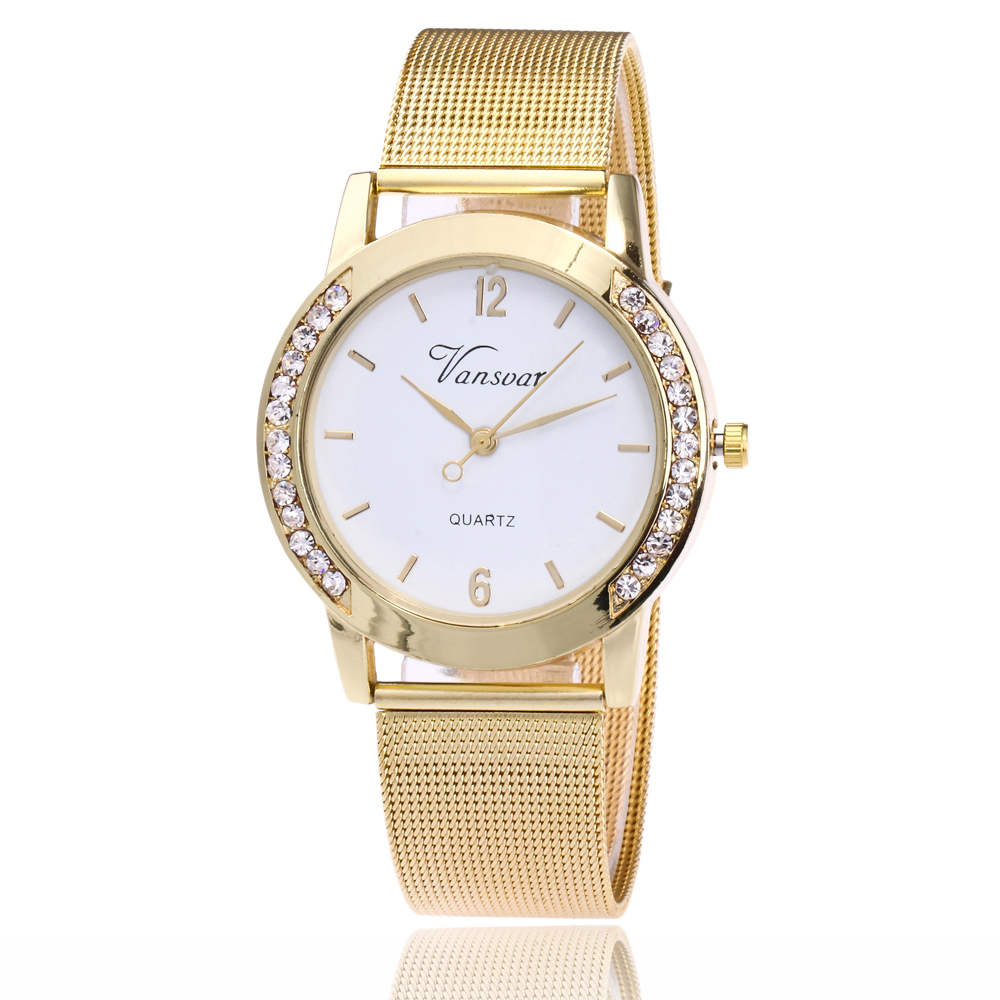 Lover's Watches 2019 Latest Design Brand Fashion Gold Mesh Quartz Watch Women Metal Stainless Steel Dress Watches Relogio Feminino Gift Clock Pretty And Colorful