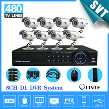 Home Surveillance 8ch CCTV System 8 channel DVR Kit 8pcs 480TVL IR waterproof Outdoor 8ch Video Recorder Security Camera