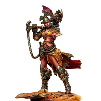DIY 1/24 Resin Character 75mm Ancient Female Warrior Game Movie Character R27