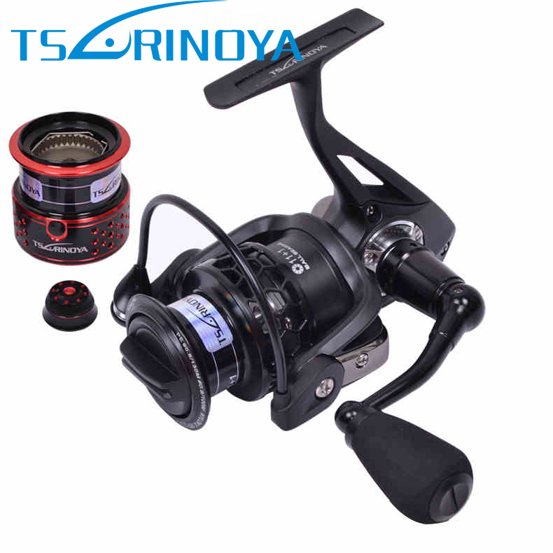 Tsurinoya TSP2000 2 Spools Full Metal Spinning Reel 11+1BB 5.2:1 Carretilha De Pesca Fishing Wheel Peche En Mer Carp Fish Coil fddl 9000 10000 large long shot fishing wheel 12 1bb 4 9 1 full metal line cup spinning reel fishing reel carretilha para pesca