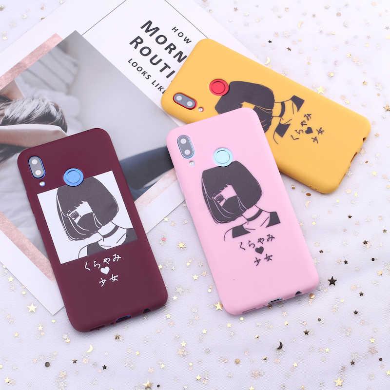 Para Samsung S8 S9 S10 S10e Plus Note 8 9 10 A7 A8 libro de cómics chica dibujo de caramelo funda de silicona para teléfono