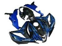 Quality 100%Fit Fairing kit for CBR 600 RR 2007 2008 F5 07 08 CBR600RR 07 08 injection Blue flame black fairings D