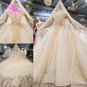 Image 2 - AIJINGYU プラスサイズウェディングドレスブライダルドレス販売トルコビーズ中国工場ガウンウェブサイト高級クリスタルウェディングドレス