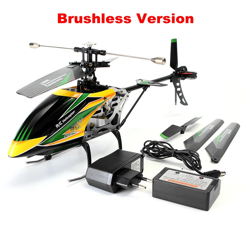 WLtoys V912 4CH Brushless RC Helicopter With Gyro 360 3D Flips BNF  for Kids Toys Gift