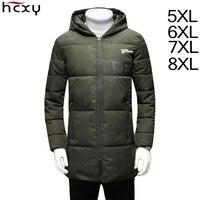 HCXY 2017 Winter Jacket Men Warm Coat High Quality Fashion Casual Parka Size 5XL 6XL 7XL