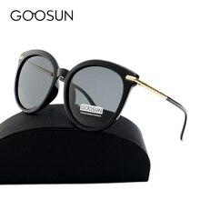 Goosun Мода 2017 г. высокое качество «кошачий глаз» WOM поляризационные UV400 зеркало солнцезащитные очки Брендовая Дизайнерская обувь большой кадр с коробкой