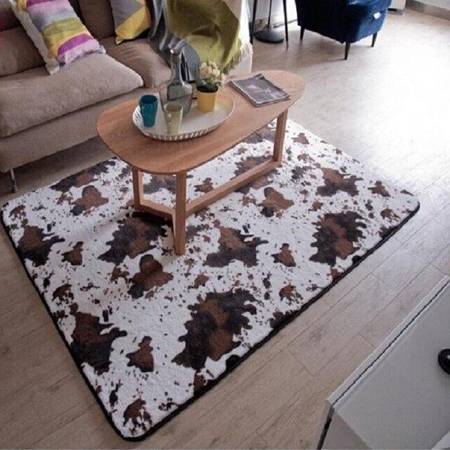Pelle bovina Tappeto zebra fiore antiscivolo tappeto per living room ...