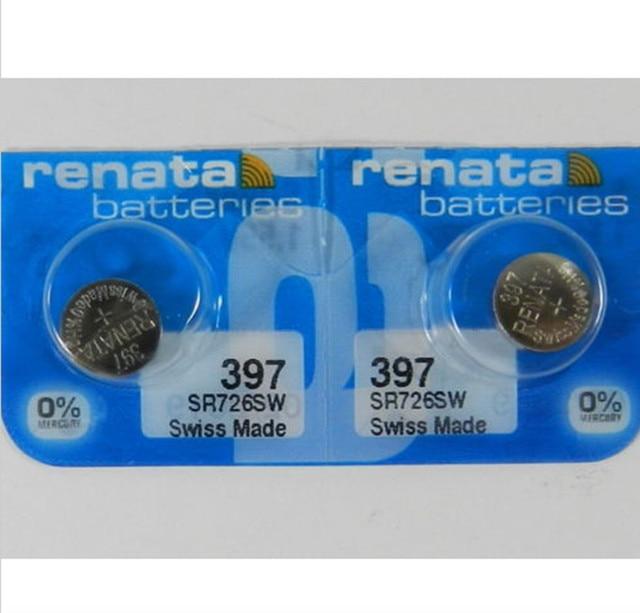 f4975c33ff5 2 pçs lote retail nova marca renata duradouro 397 sr726sw bateria de relógio  de óxido