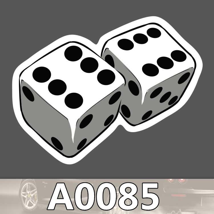 Bevle A0085 Gambling Dice Waterproof Sticker for Cars Laptop Luggage Skateboard Graffiti Notebook Stickers Fashion DIY