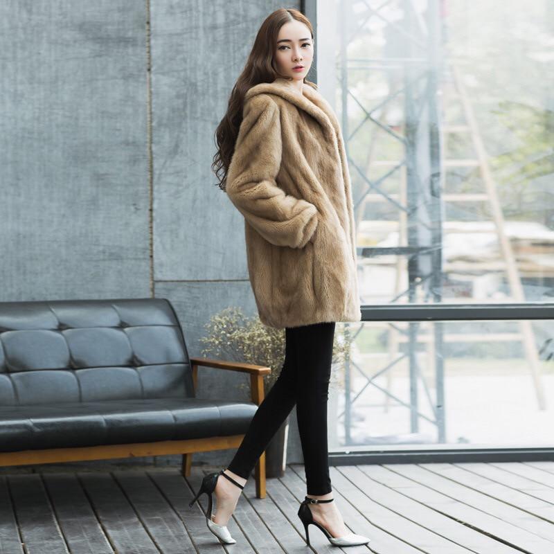 Fourrure Long Avec Luxe Marque Qualité Tu144 Vison Perth Style Haute Beige D'hiver Naturel Ceinture Femmes 2017 Manteau De Dame 034 Veste Élégante mv8wN0On