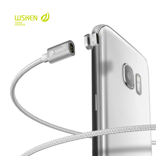 New WSKEN X-Cable Mini 1 Metal Magnetic Micro USB Quick Charging Cable Anti-dust Plug for Samsung S7 S6 Edge HTC Xiaomi huawei