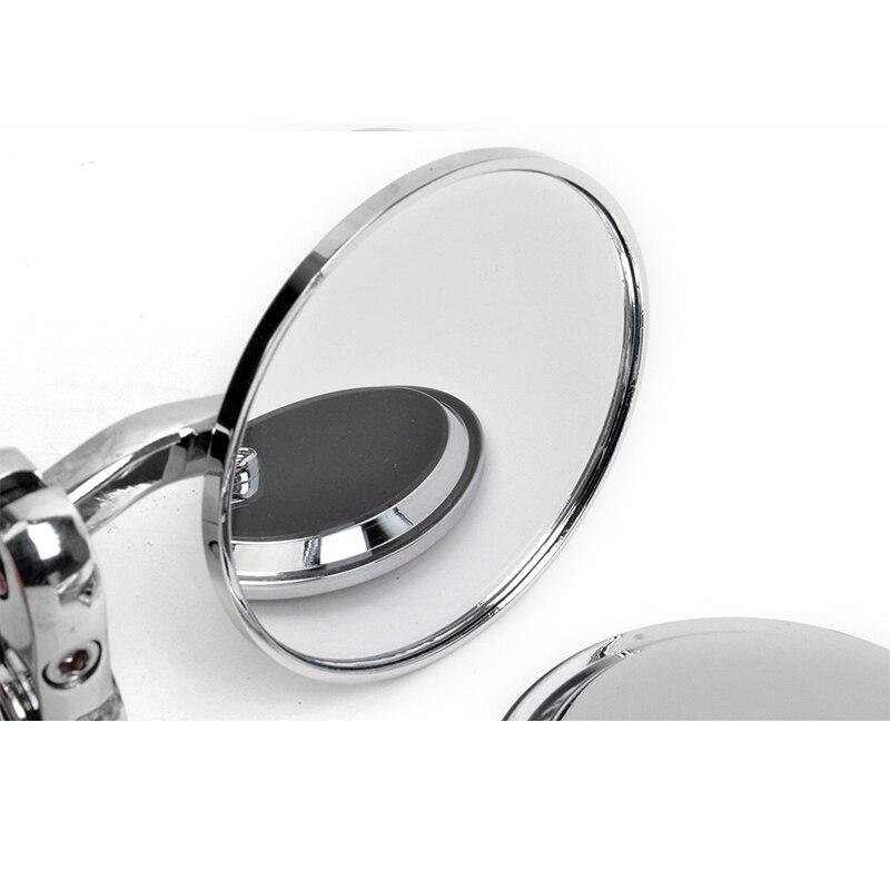 Chrome Мотоцикл с ЧПУ Алюминий Зеркало заднего вида 7/8 ''22 мм Ручка Бар Конец Зеркала для Honda Yamaha Suzuki Kawasaki