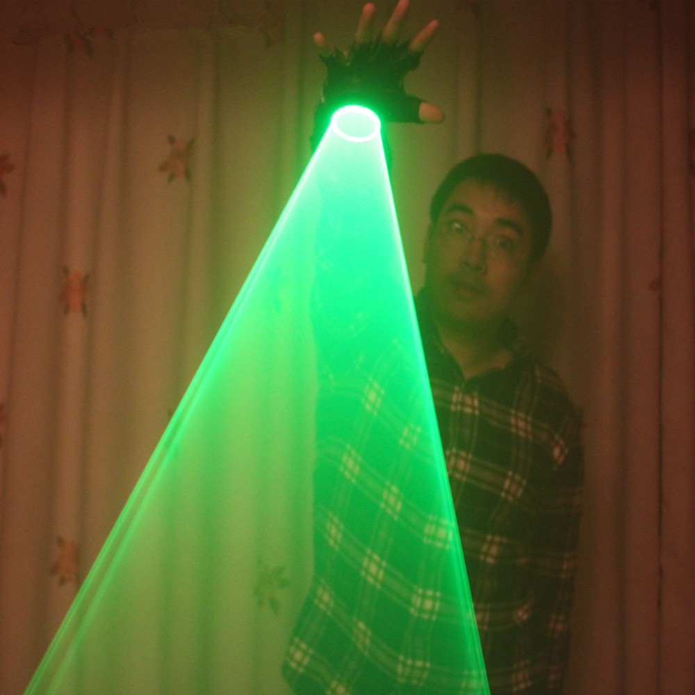 Auto Moving Green Laser Gloves Palm Laser For DJ Dancing Club Rotating Laser Show LED Glove LED Luminous Costumes