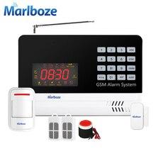 Marlboze IOS приложение для Android Беспроводной проводной домашней безопасности GSM сигнализация Системы PIR обнаружения движения двери Сенсор голос Защита от взлома комплект