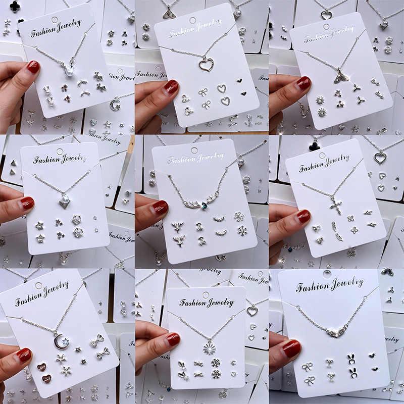 Naszyjnik zestaw koreańskiej wersji prostego biżuterii naszyjnik wisiorek damski śliczny temperament zestaw hurtowy