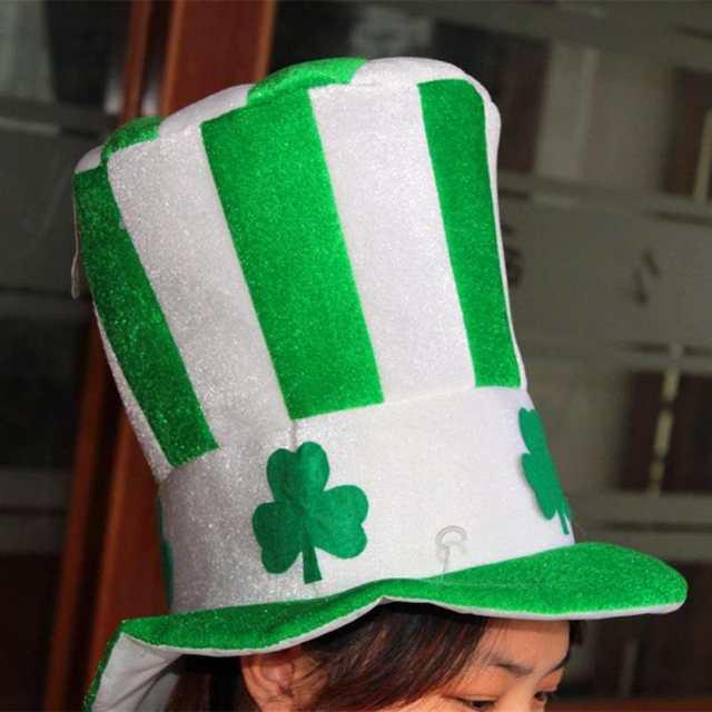 placeholder New Halloween Unisex Irish Shamrock Hat Women Men Fedoras Caps  Magic Dance Stage Performance Headwear Party d6ee080df1