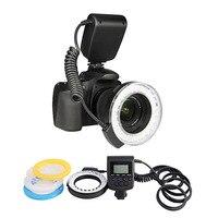 RF 550D Macro 48 pieces LED Ring Flash Light for Canon Nikon for Olympus for Panasonic DSLR Camera