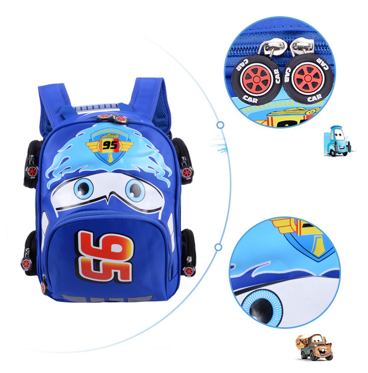 2018 New Cartoon 95 Car Boy Girl Baby Kindergarten Nursery School bag Bagpack Teenager Schoolbags Canvas Kids Student Backpacks 56