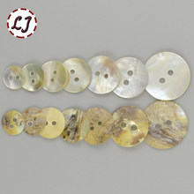 New 30pcs/lot Natural Shell Sewing Buttons Color Mother of Pearl MOP Round Shell 2 Hole Button garment Sewing Accessories DIY(China)
