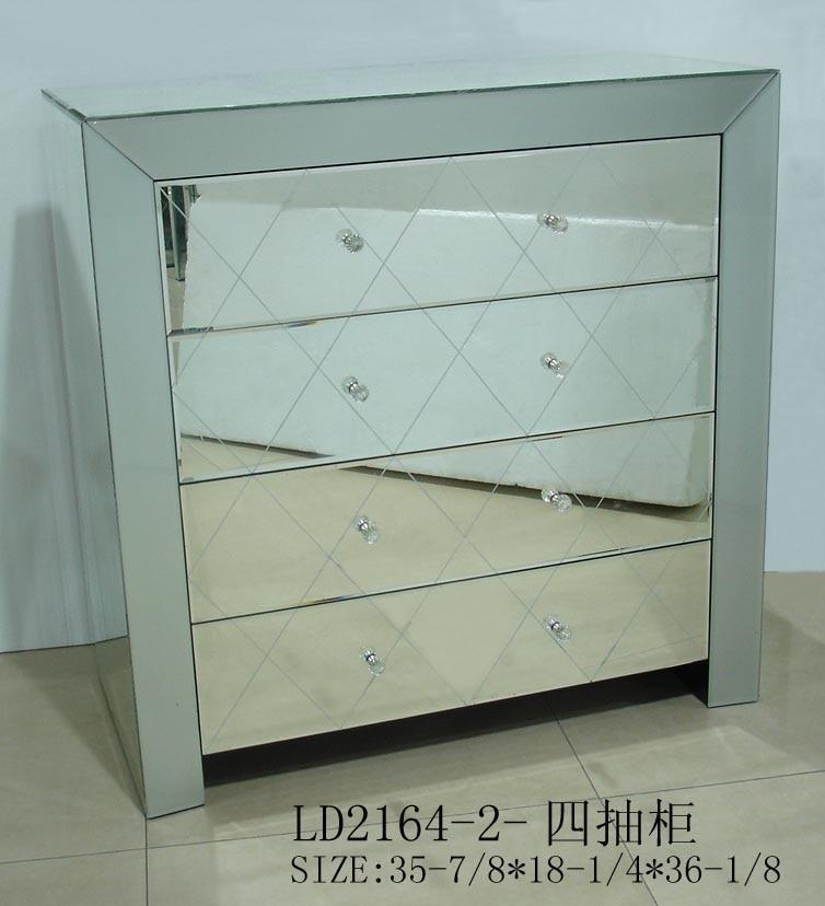Fu2164 specchiato tavolino comodino mobili a specchio in - Mobili in specchio ...
