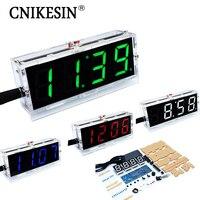 DIY Kit Digital Clock Production Suite Voice Timekeeping Clock Parts LED DIY SCM Training Electronic Watch