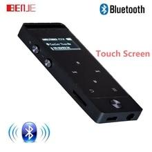 BENJIE Original S5 Botón Táctil 8 GB MP3 Reproductor de Música de Alta Sin Pérdida de calidad de la Aleación de Metal Cuerpo de 30 horas de Reproducción Continua con FM