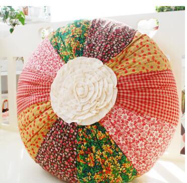handmade pastoral patchwork futon pillow round back cushion sofa home decor