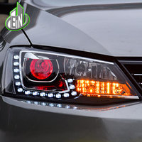 Car Styling For Vw Jetta Headlights For VW Jetta MK6 Head Lamps With LED Guide Car
