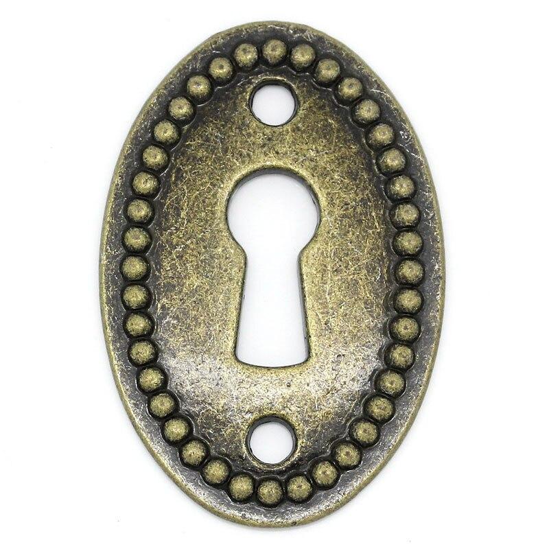 DoreenBeads Zinc Metal Alloy Connectors Findings Oval Antique Bronze Keyhole Pattern 3.7cm(1 4/8