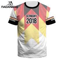 f642429c96dd3c NADANBAO 2018 di Estate Degli Uomini/Donne Germania Jersey di Sport di 3D  Stampa Camisa De Futebol O-Collo Manica Corta Calcio M..