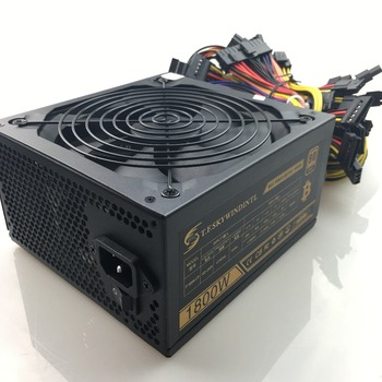 1800W Power Supply 1800w pc power supply ATX Miner Power PSU ATX Mining Machine 6 Pieces Graphics Card GPU Miner Antminer PSU atx 24pin quad 4 psu power supply starter motherboard adapter cable 18awg wire for btc miner machine rig 30cm