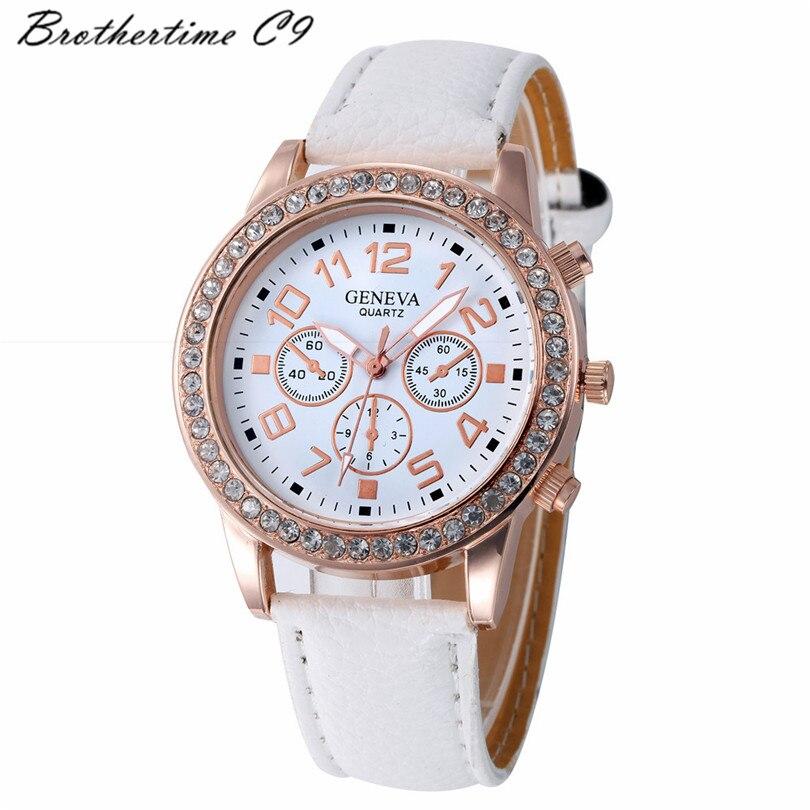 Relogio feminino mulheres casuais damas de couro falso quartzo analógico relógio de pulso mulheres relógios pulseira relógio senhoras relógios de marca